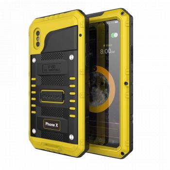 Водонепроницаемый чехол Seacosmo для iPhone X/Xs желтый