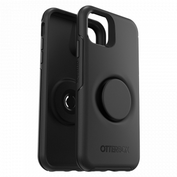 Ударопрочный чехол OtterBox + Pop Symmetry Series Case Black для iPhone 11