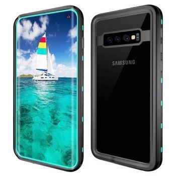 Водонепроницаемый ударопрочный чехол Redpepper Dot+ Series для Samsung Galaxy S10 Sea Blue