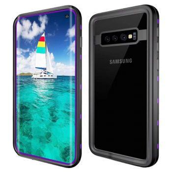 Водонепроницаемый ударопрочный чехол Redpepper Dot+ Series для Samsung Galaxy S10 Purple