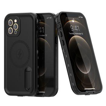 Ударопрочный и водонепроницаемый чехол Redpepper Dot+ Black для iPhone 12 Pro черный