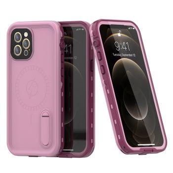 Ударопрочный и водонепроницаемый чехол Redpepper Dot+ Pink для iPhone 12 Pro розовый