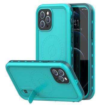 Ударопрочный и водонепроницаемый чехол Redpepper Dot+ Sea Blue для iPhone 12 Pro Max голубой