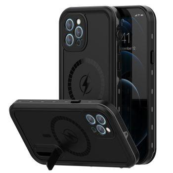 Ударопрочный и водонепроницаемый чехол Redpepper Dot+ Black для iPhone 12 Pro Max черный