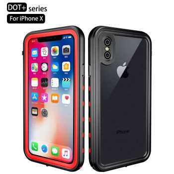 Водонепроницаемый ударопрочный чехол Redpepper Dot+ Series для iPhone X/Xs Black / Red