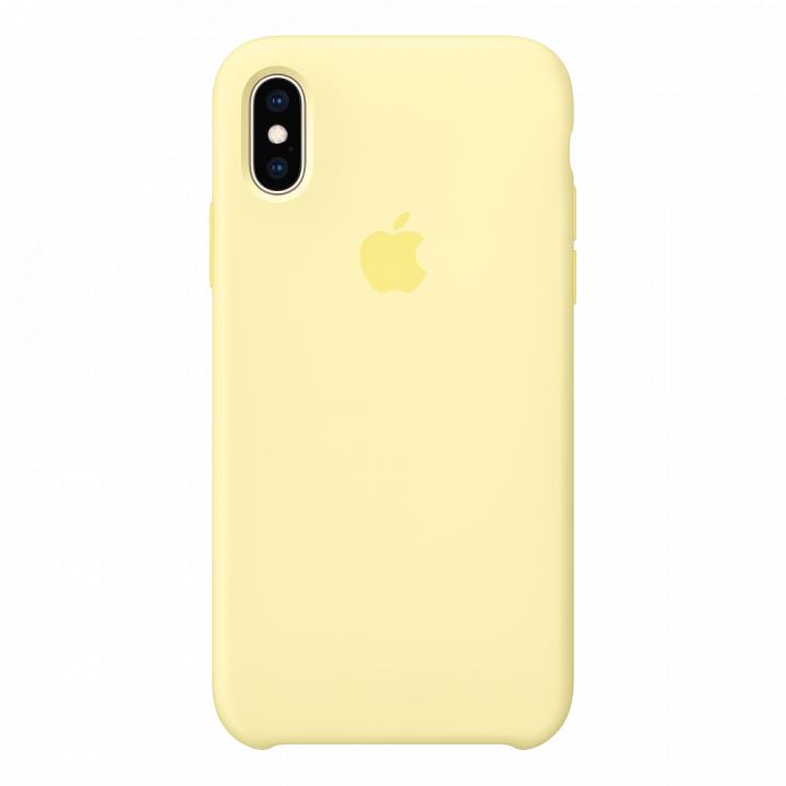 Чехол Apple Silicone Case для iPhone X/Xs Mellow Yellow (оригинал)