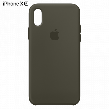 Чехол Apple Silicone Case для iPhone XR Dark Olive