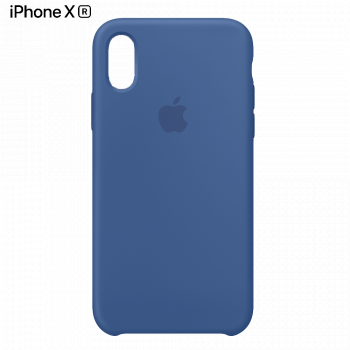 Чехол Apple Silicone Case для iPhone XR Delft Blue
