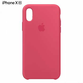 Чехол Apple Silicone Case для iPhone XR Hibiscus