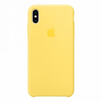 Силиконовый чехол для iPhone XS Max желтый (оригинал)