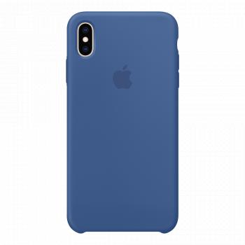Силиконовый чехол для iPhone XS Max Delft Blue (оригинал)