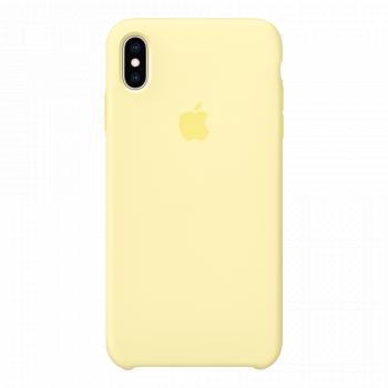 Силиконовый чехол для iPhone XS Max Mellow Yellow (оригинал)