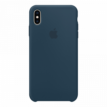 Силиконовый чехол для iPhone XS Max зеленый