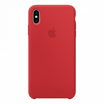 Силиконовый чехол для iPhone XS Max красный (оригинал)