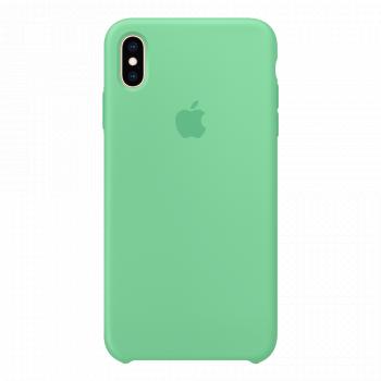 Силиконовый чехол для iPhone XS Max салатовый (оригинал)