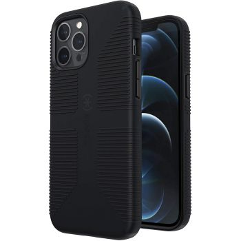 Ударопрочный чехол Speck CandyShell Pro Grip Black/Black для iPhone 12 Pro Max