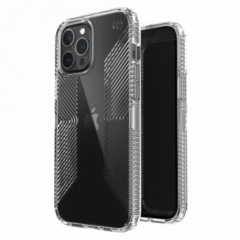 Ударопрочный чехол Speck Presidio Perfect Clear with Grips для iPhone 12 Pro Max