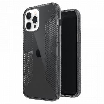 Ударопрочный чехол Speck Presidio Perfect Clear with Grips Obsidian / Obsidian для iPhone 12 Pro Max