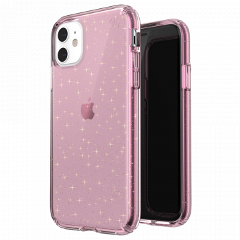 Ударопрочный чехол Speck Presidio Clear + Glitter Bella Pink with Gold Glitter для iPhone 11
