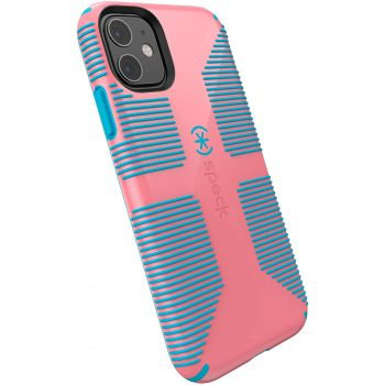 Ударопрочный чехол Speck CandyShell Grip Toucan Pink/Capri Blue для iPhone 11