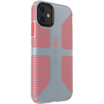 Ударопрочный чехол Speck CandyShell Grip Nickel Grey/Warning Orange для iPhone 11