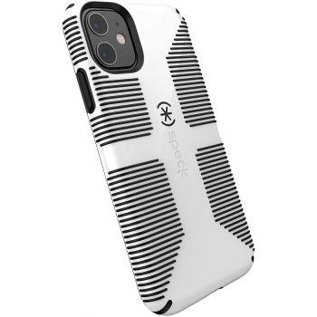 Ударопрочный чехол Speck CandyShell Grip White/Black для iPhone 11