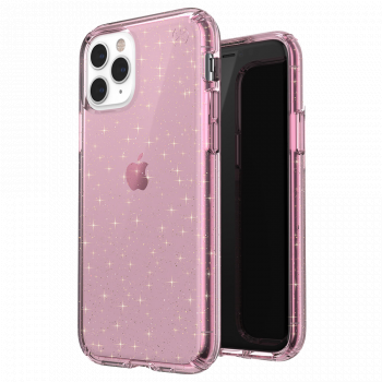 Ударопрочный чехол Speck Presidio Clear + Glitter Bella Pink with Gold Glitter для iPhone 11 Pro Max