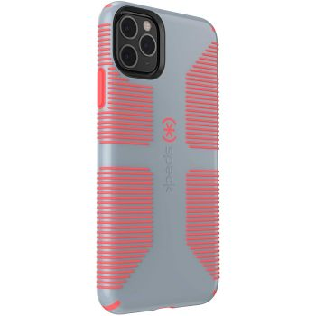 Ударопрочный чехол Speck CandyShell Grip Nickel Grey/Warning Orange для iPhone 11 Pro Max