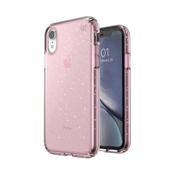 Чехол Speck Presidio Clear + Glitter для iPhone XR Bella Pink with Gold Glitter