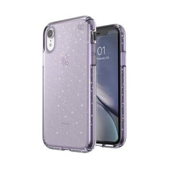 Чехол Speck Presidio Clear + Glitter для iPhone XR Geode Purple with Gold Glitter