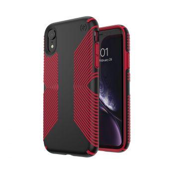 Чехол Speck Presidio Grip для iPhone XR Black/Dark Poppy Red