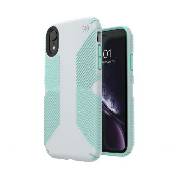 Чехол Speck Presidio Grip для iPhone XR Dolphin Grey/Aloe Green