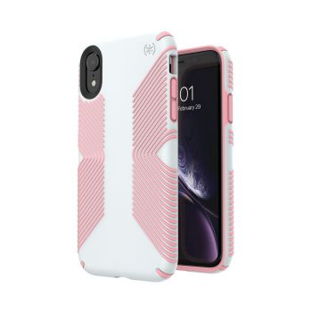 Чехол Speck Presidio Grip для iPhone XR Dove Grey/Tart Pink