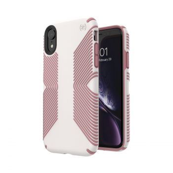 Чехол Speck Presidio Grip для iPhone XR Veil White/Lipliner Pink