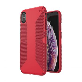 Чехол Speck Presidio Grip для iPhone XR Heartrate Red/Vermillion Red