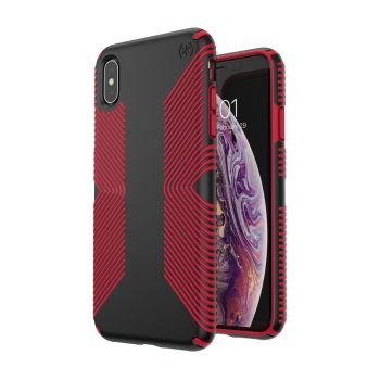 Чехол Speck Presidio Grip для iPhone XS Max Black/Dark Poppy Red