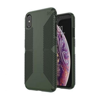 Чехол Speck Presidio Grip для iPhone XS Max Dusty Green/Brunswick Black