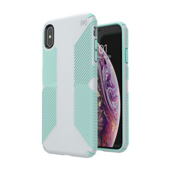 Чехол Speck Presidio Grip для iPhone XS Max Dolphin Grey/Aloe Green