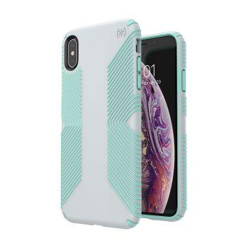 Чехол Speck Presidio Grip для iPhone XS Max Dolphin Grey/Aloe Green