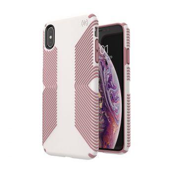 Чехол Speck Presidio Grip для iPhone XS Max Veil White/Lipliner Pink