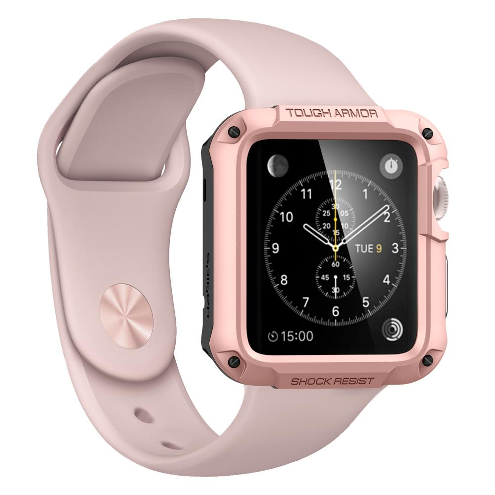 more photos 5ddcd fd359 Чехол Spigen Tough Armor Case для Apple Watch 44 мм Rose Gold