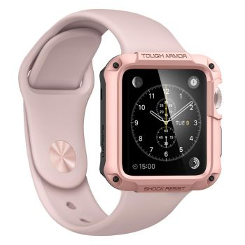 Чехол Spigen Tough Armor Case для Apple Watch 44 мм Rose Gold