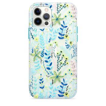 Ударопрочный чехол Tech21 Evo Art Botanical Garden Case Blue для iPhone 12 / 12 Pro