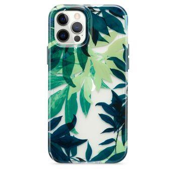 Ударопрочный чехол Tech21 Evo Art Botanical Garden Case Green для iPhone 12 / 12 Pro