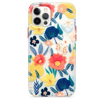 Ударопрочный чехол Tech21 Evo Art Botanical Garden Case Orange для iPhone 12 / 12 Pro