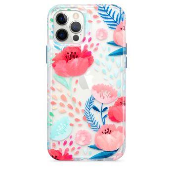 Ударопрочный чехол Tech21 Evo Art Botanical Garden Case Red для iPhone 12 / 12 Pro
