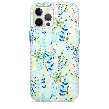 Ударопрочный чехол Tech21 Evo Art Botanical Garden Case Blue для iPhone 12 Pro Max