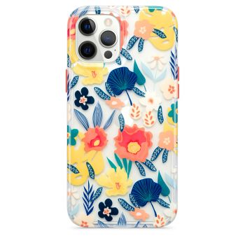 Ударопрочный чехол Tech21 Evo Art Botanical Garden Case Orange для iPhone 12 Pro Max