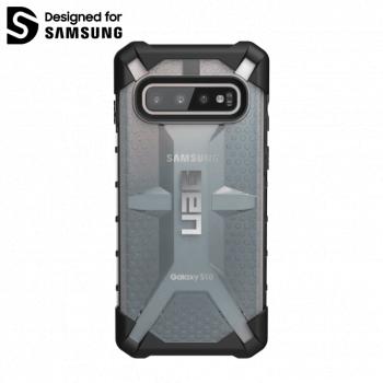 Чехол Urban Armor Gear Plasma Ice для Samsung Galaxy S10 серый прозрачный