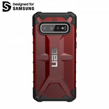 Чехол Urban Armor Gear Plasma Magma для Samsung Galaxy S10 красный прозрачный